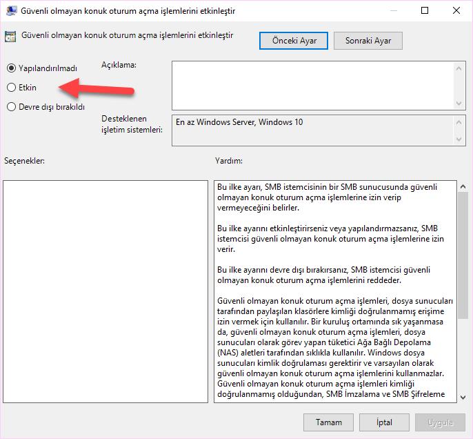 Windows 10 Ortak Ağa Bağlanma